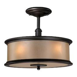 Vaxcel International Carlisle 13In. Semi-Flush Ceiling Light