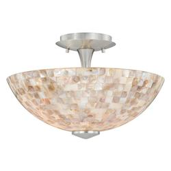 Vaxcel International Milano 13In. Ceiling Light Mosaic Shell