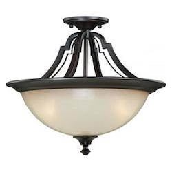 Vaxcel International Elba 15-1/2In. Semi-Flush Ceiling Light
