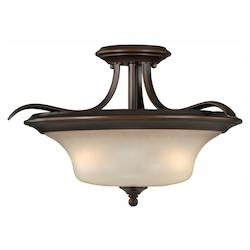 Vaxcel International Sonora 16-1/2In. Semi-Flush Ceiling Light