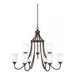 Vaxcel International Lorimer 9L Chandelier