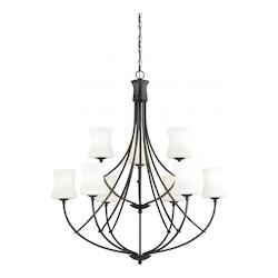 Vaxcel International Poirot 9L Chandelier