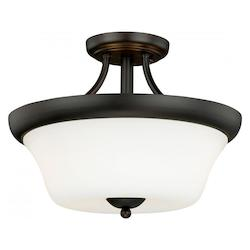 Vaxcel International Poirot 14-1/2In. Semi-Flush Ceiling Light
