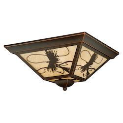 Vaxcel International Mayfly 14In. Outdoor Flush Mount