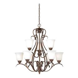 Vaxcel International Hartford 9L Chandelier