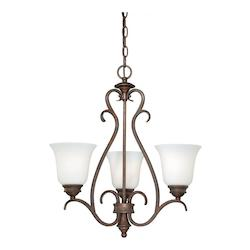 Vaxcel International Hartford 3L Mini Chandelier