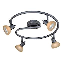 Vaxcel International 4 Light Spiral Rod Spot Light
