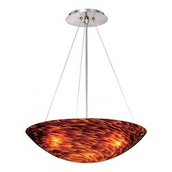 Vaxcel International Milano 16In. Pendant Flaming Amber Glass