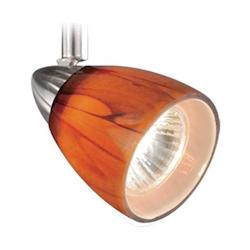 Vaxcel International 3 Light Spot Light Pendant Honey Ripple Glass