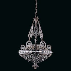 Lumenno Int Prague Collection (Medium) Pendant In A Bronze Finish With A Gold & Silver Wash