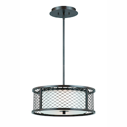 Lumenno Int Dublin Collection 3 Light Pendant In A Bronze Finish
