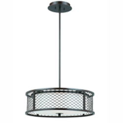Lumenno Int Dublin Collection 4 Light Pendant In A Bronze Finish