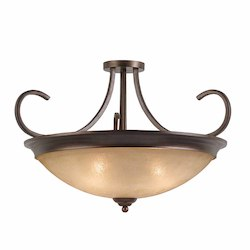 Lumenno Int Athens Collection 4 Light Semi-Flush/Pendant Convertible In A Bronze Finish