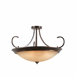 Lumenno Int Athens Collection 10 Light Semi-Flush/Pendant Convertible In A Bronze Finish