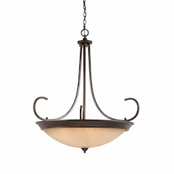 Lumenno Int Athens Collection 10 Light Pendant In A Bronze Finish