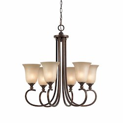 Lumenno Int Athens Collection 6 Light Chandelier In A Bronze Finish