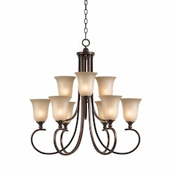 Lumenno Int Athens Collection 9 Light Chandelier In A Bronze Finish