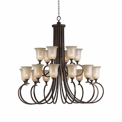 Lumenno Int Athens Collection 18 Light Entry Chandelier In A Bronze Finish