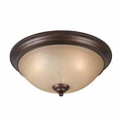Lumenno Int Athens Collection 3 Light Flush Mount In A Bronze Finish