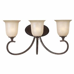 Lumenno Int Athens Collection 3 Light Bath Bar In A Bronze Finish