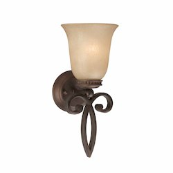 Lumenno Int Budapest Collection 1 Light Sconce In A Bronze Finish