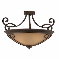 Lumenno Int Budapest Collection (Medium) Semi-Flush Mount In A  Bronze Finish