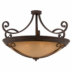 Lumenno Int Budapest Collection (Large) Semi-Flush Mount In A  Bronze Finish