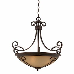 Lumenno Int Budapest Collection (Medium) 4-Light Pendant In A Bronze Finish