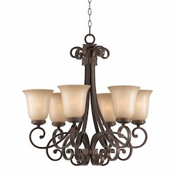 Lumenno Int Budapest Collection 6 Light Chandelier In A Bronze Finish