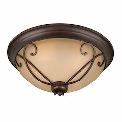 Lumenno Int Budapest Collection (Small) Flush Mount In A Bronze Finish