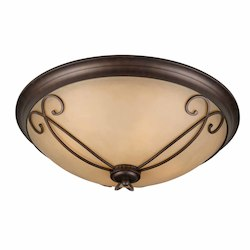 Lumenno Int Budapest Collection (Medium) Flush Mount In A Bronze Finish