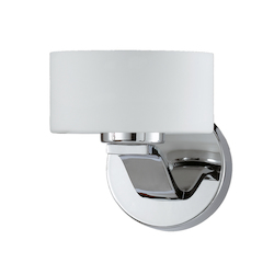 Lumenno Int Gianna Collection 1 Light Sconce In A Chrome Finish