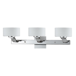 Lumenno Int Gianna Collection 3 Light Bath Vanity Light In A Chrome Finish