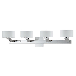 Lumenno Int Gianna Collection 4 Light Bath Vanity Light In A Chrome Finish And Opal Glass