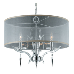 Lumenno Int Paris Collection 4 Light Pendant In A Polished Chrome Finish