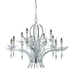 Lumenno Int Paris Collection 12 Light Chandelier In A Polished Chrome Finish
