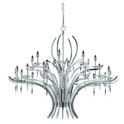 Lumenno Int Paris Collection 24 Light Entry Chandelier In A Polished Chrome Finish