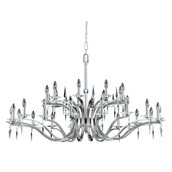 Lumenno Int Silhouette Collection 27 Light Entryway Chandelier In A Satin Nickel Finish