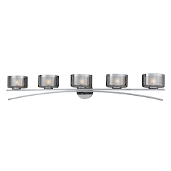 Lumenno Int Bodorlo Collection 5 Light Xenon Bath Vanity In A Chrome Finish