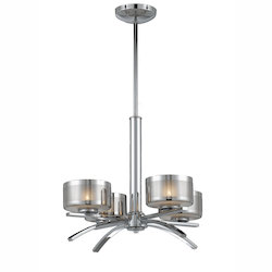 Lumenno Int Bodorlo Collection 4 Light Chandelier In A Chrome Finish