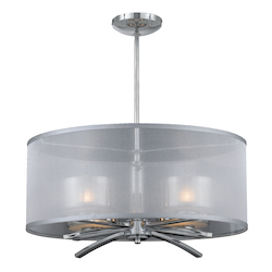 Lumenno Int Bodorlo Collection 4 Light Xenon Pendant In A Chrome Finish
