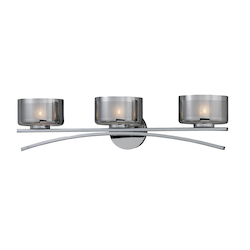 Lumenno Int Bodorlo Collection 3 Light Xenon Bath Vanity In A Chrome Finish