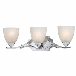 Lumenno Int Value Collection 8003 3 Light Bath In A Chrome Plated Finish