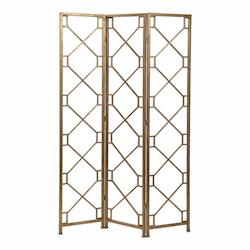 Uttermost Uttermost Lakaya Gold 3 Panel Screen