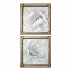 Uttermost Uttermost Winter Blooms Floral Art S/2