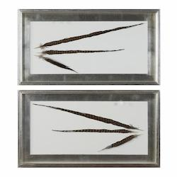 Uttermost Uttermost Pheasant Feathers Wall Art S/2