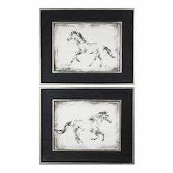 Uttermost Uttermost Equine Study Prints S/2