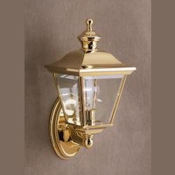 Kichler Polished Brass Lifetime Finish Bay Shore 1 Light 20In. Outdoor Wall Light