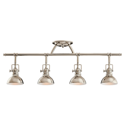 Kichler Four Light Polished Nickel Directional Flush Mount