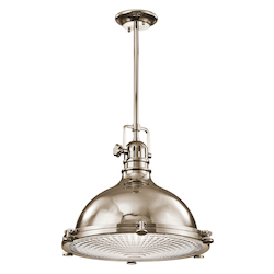 Kichler One Light Polished Nickel Down Pendant